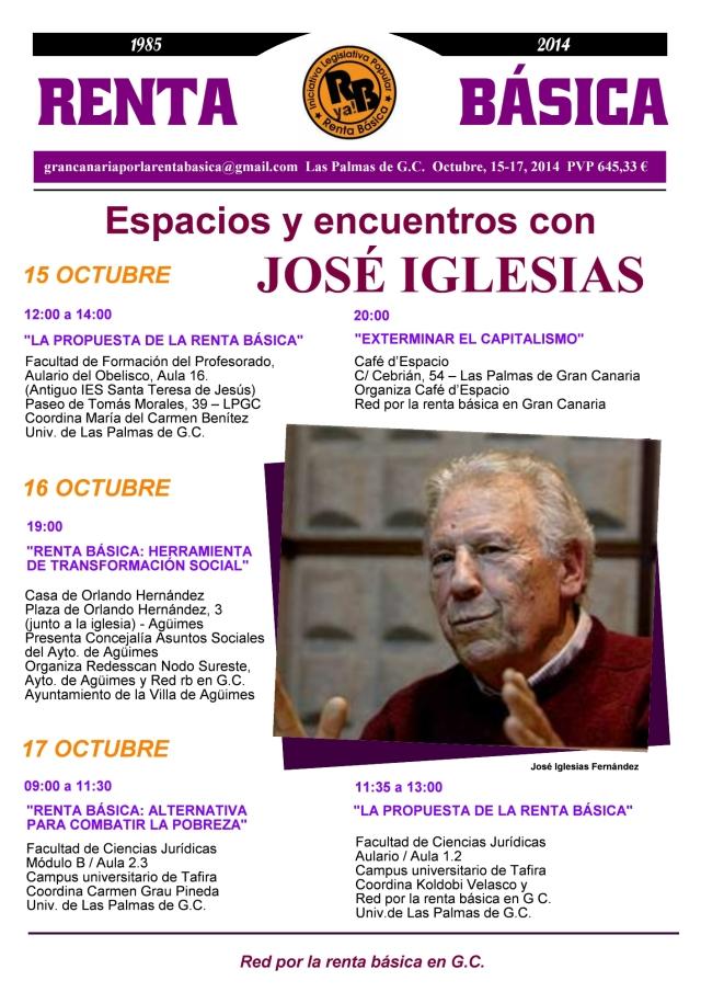 Programa de actos con José Iglesias (RrbGC)