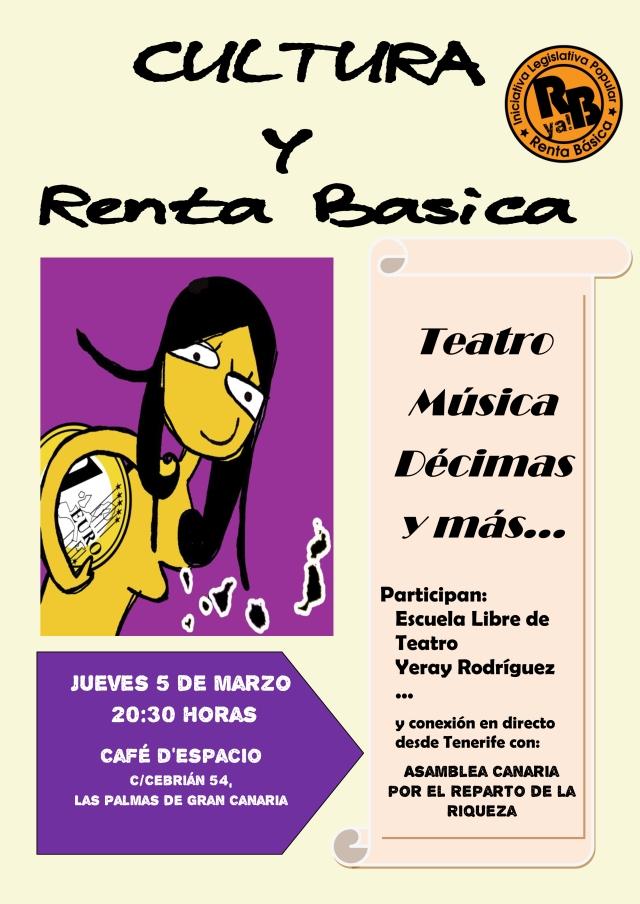 Cultura y Renta Basica cartel v1